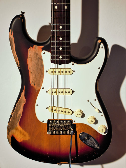 Chitarra John Frusciante Replica, Stratocaster, prod. Music Factory
