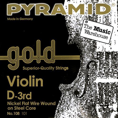 Pyramid Gold Violino Corda Singola RE D String 4/4