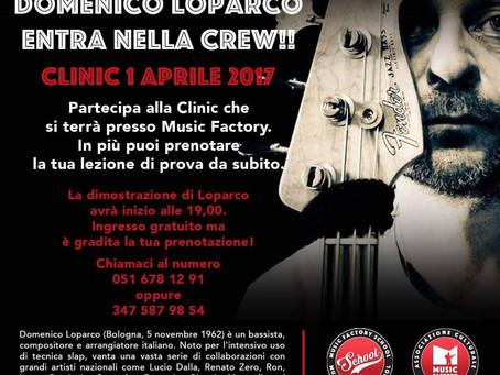 01/04 - DOMENICO LOPARCO - Clinic alla Music Factory