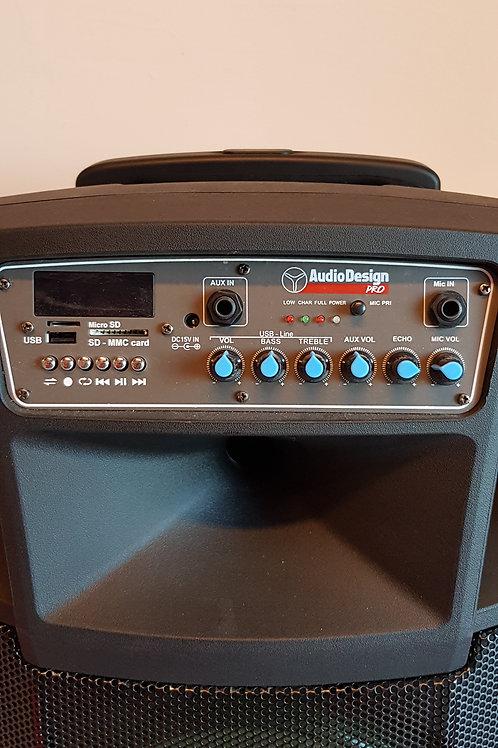"""AUDIO DESIGN PRO M2 12W/L Diffusore a batteria 12"""" ad alta potenza"""