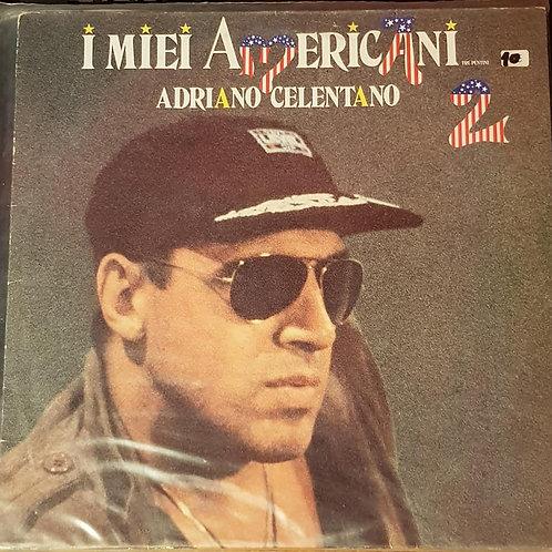 """VINILE LP 33 giri """"I miei Americani"""" Adriano Celentano Vol. 2 ITALY 1986"""
