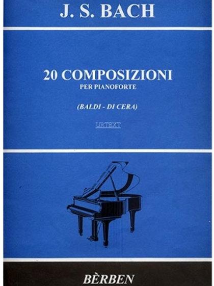 20 Composizioni per pianoforte J. S. BACH