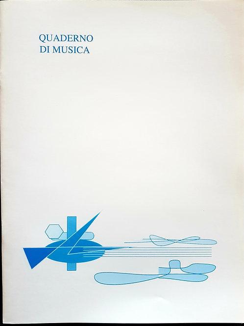 Quaderno pentagrammato di musica - 32 pages - 12 righe