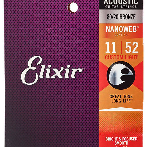 Elixir Nanoweb Custom Light Acoustic 011- 052