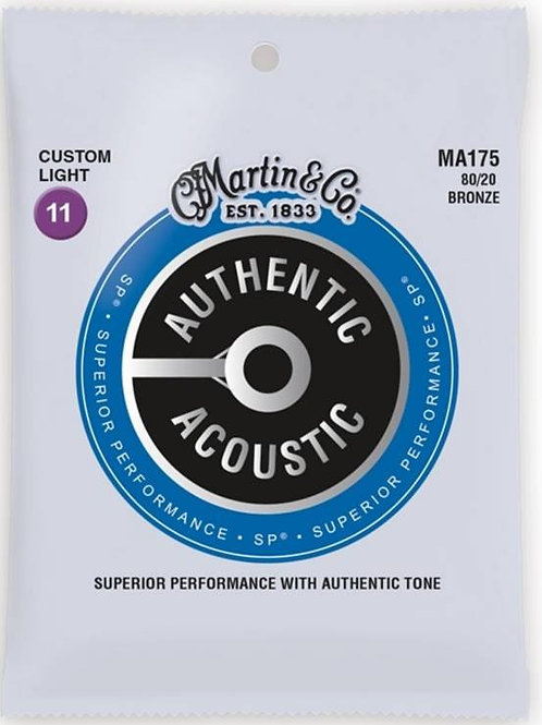 MARTIN MA175 Authentic SP 80/20 Bronze Custom Light