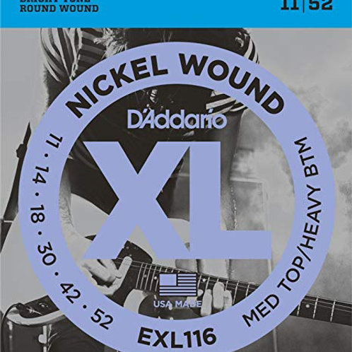 D'ADDARIO EXL116 Set di Corde Rivestite in Nickel 11-52