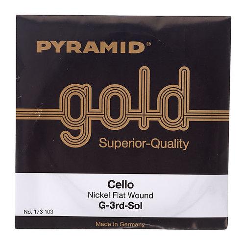 Pyramid Gold Cello String G - SOL