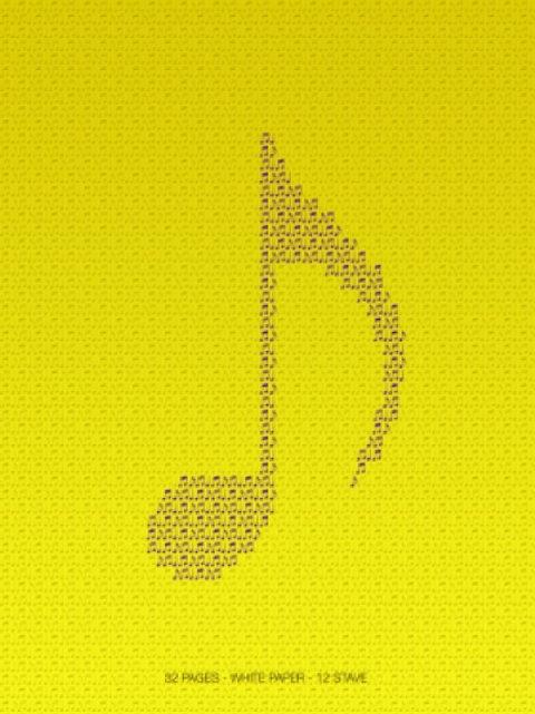 Quaderno pentagrammato di musica 32 pages - Volontè & Co.