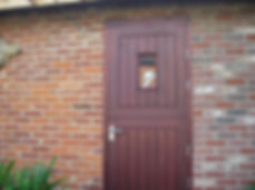 Staining a new door