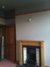 belper fireplace wall painted