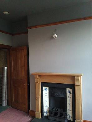 belper fireplace wall painted