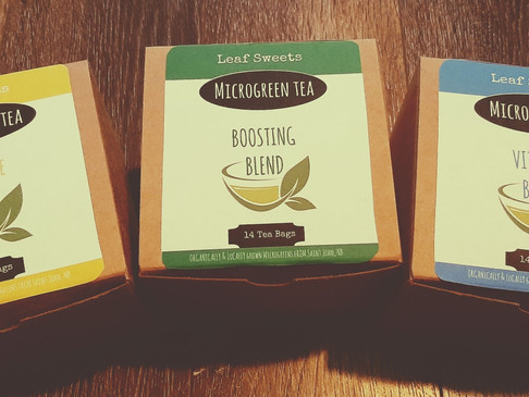 Microgreen Teas - Boost, Alleviate and Revitalize your body with simple and effective nutrients.