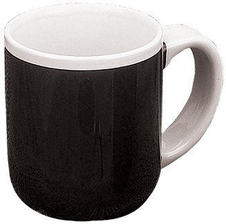 Las Vegas, C Handle, 2 Tone, Coffee Cup, Hot Beverage Holder, White Handle, Round, Carry Handle