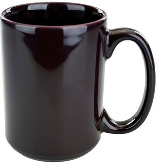 15 Oz., Jumbo, C Handle, Round, Circle, Coffee Cup, Hot Beverage