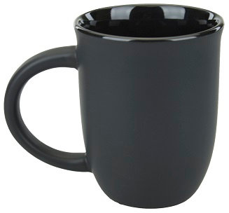 Mug, Cup, Café, Coffee House, Large, Jumbo, Two Tone, Dual Color, Contrast trim, Comfort Handle, Ergo Handle