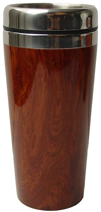 16 Oz., Water Container, Wood Grain, Vacuum Insulated, Beverage Holder, Cold Beverage