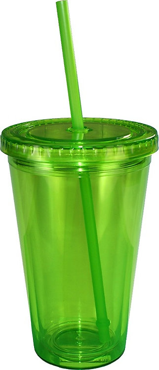 Long Island, Double Wall, Tumbler, straw
