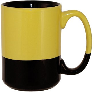Vitrified, Ceramic, El Grande, State, College, C Handle, Coffee Cup, Hot Beverage Holder, Round, Carry Handle
