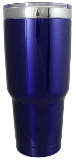 32 Oz., Stainless, Beverage Holder, Travel, Coffee, Tea, Double Wall, Vacuum Insulated, Round, BOSS