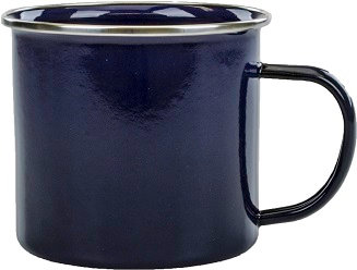 Stainless Steel, Enamel, Hot Drink Vessel, D Handle, Straight Body, Wide Mouth, Drinkware, Hot Coffee, Hot Tea, Hot Chocolate