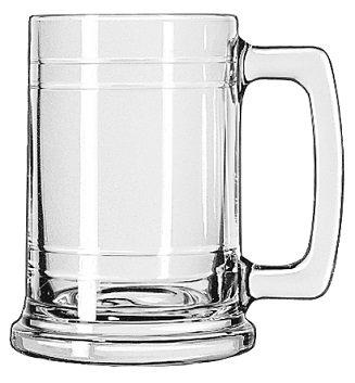 Beverage Holder, Glass, Tall, Beer, 15 Oz., Maritime, Mug, Tankard, D Handle, Draft