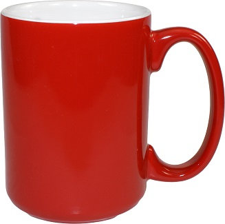 15 Oz., 2 Tone, C Handle, Container, Drinking, Coffee, Hot Cocoa, Jumbo, Drinkware, Beverage Holder, Hot, Warm, Tall