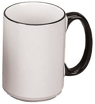 15 Oz., El Grande, Round, C Handle, Ceramic, Contrast Handle, Cylindrical, Colored Handle, Trim, Drinkingware, Beverage