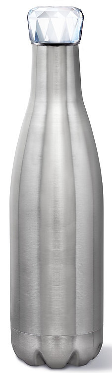 17 Oz. Capacity, Double Wall Vacuum Insulation, Temperature Retention, Stainless Steel Construction, Screw On Lid