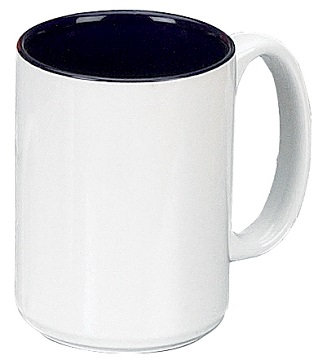 15 Oz., 2 Tone, C Handle, Container, Drinking, Coffee, Hot Cocoa, Round, Jumbo