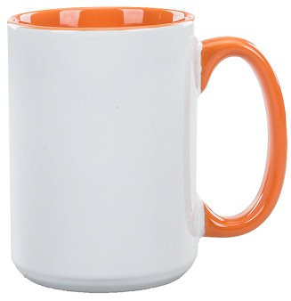 Ceramic, C Handle, Contrast Interior, Coffee Cup, Beverage Vessel, Hot Beverage, Open Mouth, Round Body