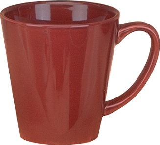 Ceramic, Funnel, Tapered Body, Ear Handle, Hot Drink Vessel, Wide Mouth, Drinkware, Hot Coffee, Hot Chocolate, Hot Tea
