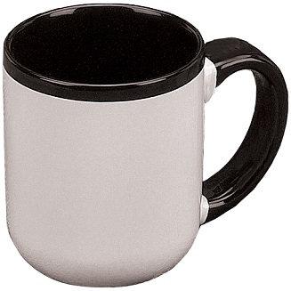 Las Vegas, C Handle, 2 Tone, Coffee Cup, Hot Beverage Holder, Contrast Handle, Round, Carry Handle, Contrast Interior