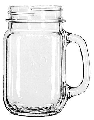 Beverage Holder, Glass, Beer, Jar, Reuse, D Handle, Drinking