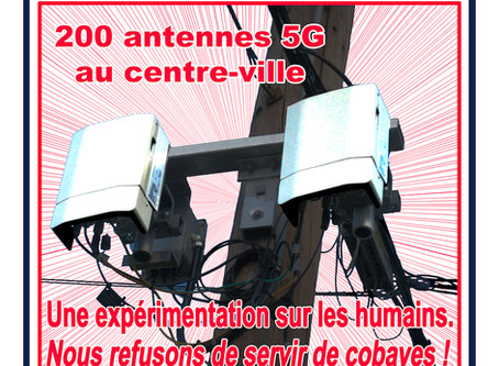 RAPPEL – JOURNÉE MONDIALE DE PROTESTATION CONTRE LA 5G