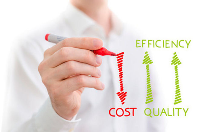 efficiency, cost, quality