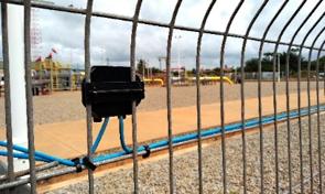 Welded mesh fence alarm