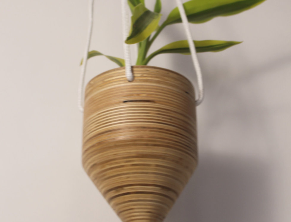 Plywood Hanging Cone Planter