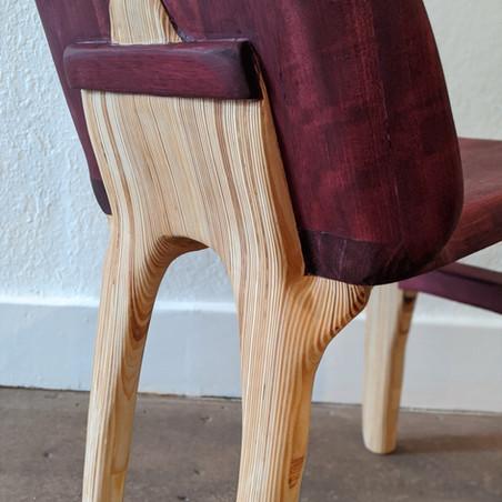 Purple Heart Chair Detail