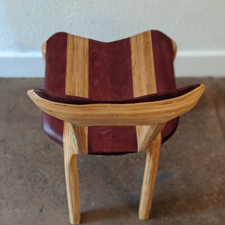 Plywood and Purple Heart Chair