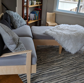 Modular. Wood. Sofa.