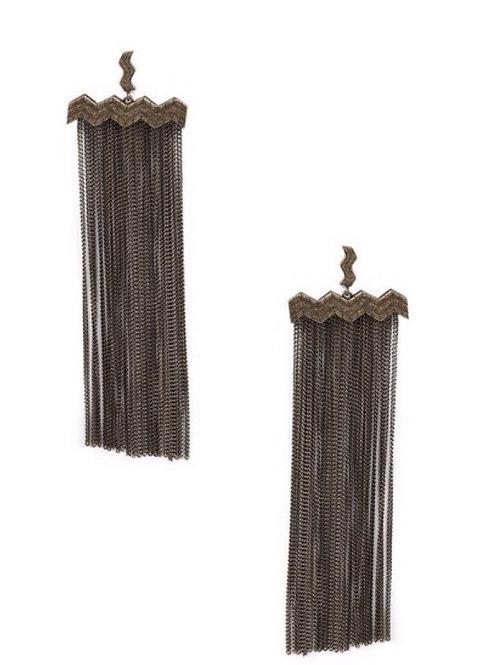Fine Lines Chain Earrings