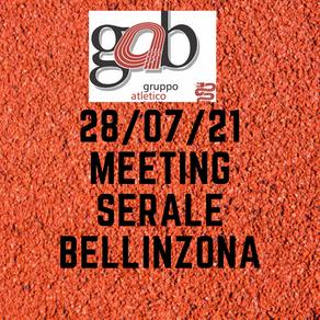 Meeting serale Bellinzona 28/07/21