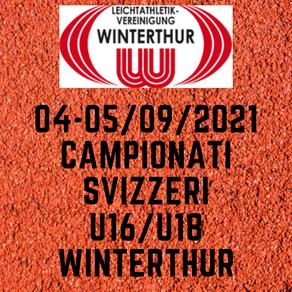 CAMPIONATI SVIZZERI WINTERTHUR  04-05/09/21