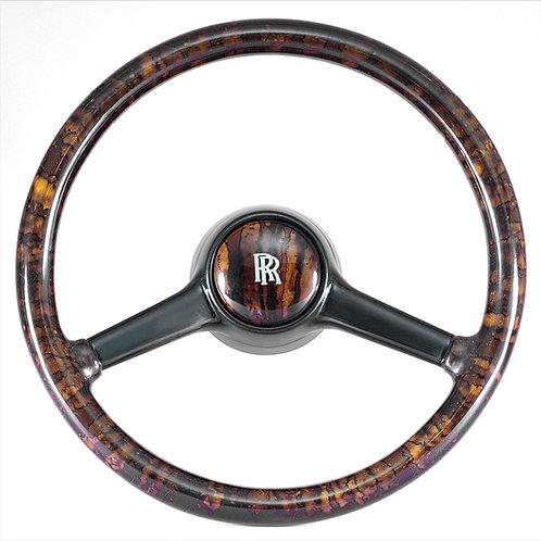 Rolls Royce Silver Shadow Deluxe Walnut Steering Wheel