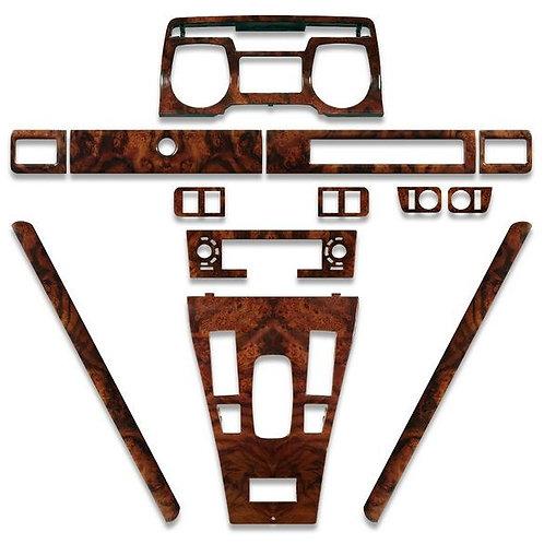Jaguar xjs pre facelift 1986 to 1991 deluxe walnut wood veneer dashboard kit