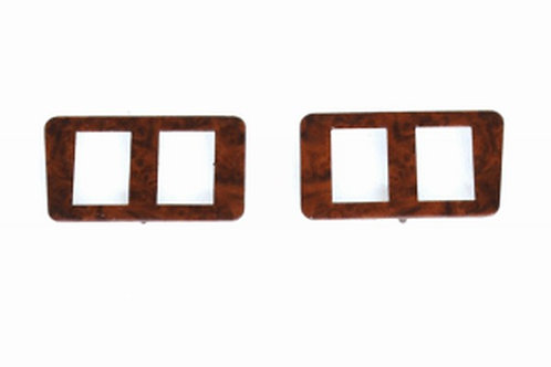 Daimler Jaguar XJ6/12 Series 2 Walnut Veneer Left and Right Hand Switch Panels