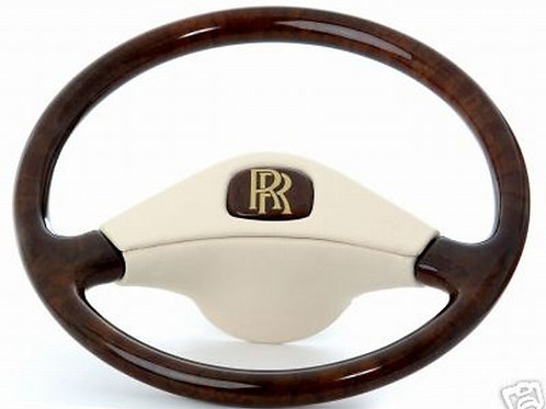 Bentley Mulsanne Deluxe Leather Bound Walnut Steering Wheel