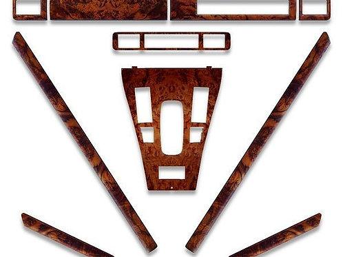 Jaguar XJS Facelift Walnut Standard Wood Veneer Original Equipment Dashboard Kit