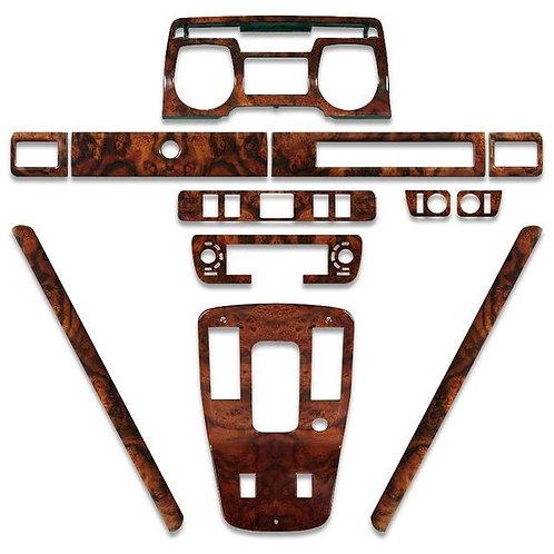 Jaguar XJS Walnut Deluxe Wood Veneer Dashboard Kit 1981 - 1985