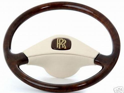 Rolls Royce Corniche Deluxe Leather Bound Walnut Steering Wheel